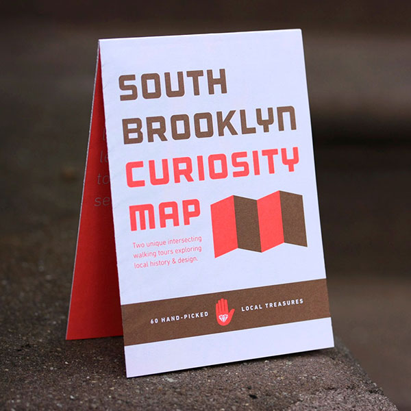 This is a photo of our work on the South Brooklyn Curiosity Map project.